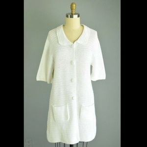 Soft Surroundings Crochet Knit Sweater Dress